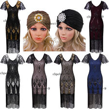 Vintage 1920s Dress Flapper Costumes Evening Gowns 20s Womens Clothing Plus Size