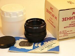 Zenitar-M MC 1.9/50mm For all Cameras with M42 Mount or other SLR/DSLR Brand new