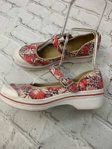 Dansko Valerie Vegan Women Canvas Floral Mary Jane Comfort Shoe Sz 39 EU 9.5 US