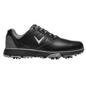 Callaway Mens Cheviot Golf Shoes Spiked Lace Up Breathable Padded Ankle Collar