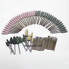 88Pcs Dental Mix Kit Diamond Bullet Shape Point Burs Bur Polisher 2.35mm pit