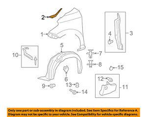 Scion TOYOTA OEM 08-14 xD-Fender Seal Left 5386752120