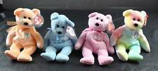 Vintage Lot Of 4 Ty Beanie Babies Bears Dearest Baby Boy Baby Girl Birthday B.B.