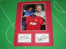 Manchester United FC David Moyes & Marouane Fellaini Signed 2013/14 Season Mount