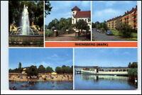 RHEINSBERG Mark Brandenburg DDR Mehrbild-AK 1978