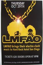 LMFAO SAN DIEGO 2009 CONCERT TOUR POSTER - HIPHOP, DANCE, PARTY ROCKERS!