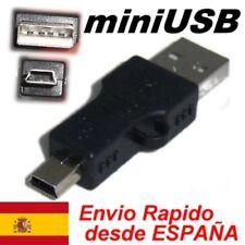 Conector Adaptador USB 2.0 a Mini USB B 5 MP3 MP4 movil