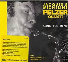 JACQUES & MICHELINE PELZER QUARTET - SONG FOR RENE (CD)  NEW