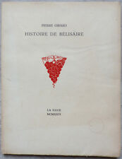 Histoire de Bélisaire, par Pierre Girard - 1926