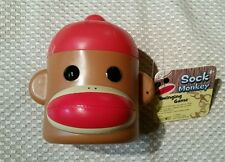 SOCK MONKEY SWINGING GAME HEAD SHAPED CONTAINER CUP PATCH PRODUCTS 2012