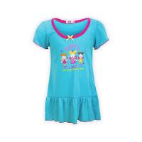 Girls Short Sleeve Knee Length Everyday Dress Graphic Print Frill Hem Sundress