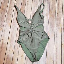 Becca Rebecca Virtue Women Ballerina One Piece Swimsuit Small Green bathing suit