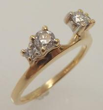10K YELLOW GOLD 1/3 CTTW GENUINE ROUND DIAMOND SOLITAIRE WRAP RING SIZE 7