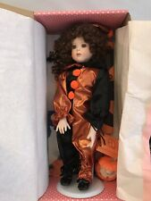 """Paradise Halloween Doll 14"""" Tall Porcelain With Stand"""