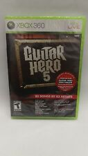 Brand New Sealed Guitar Hero 5 Game only (Microsoft Xbox 360, 2009)