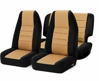 Jeep Wrangler TJ Front and Rear Neoprene Seat Covers Tan 97-02 Smittybilt 471225