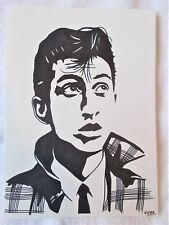 A4 Art Marker Pen Sketch Drawing Alex Turner from Arctic Monkeys Singer Poster