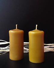 PROMOTION !!!  4 PCS NATURAL HANDMADE BEESWAX CANDLES
