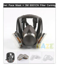 Set Large View 6800 Gas Mask Full Face Facepiece Respirator Painting Spraying