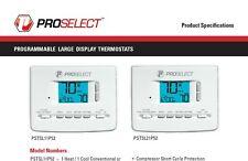 Digital Programmable Thermostat - ProSelect Pstsl21P52
