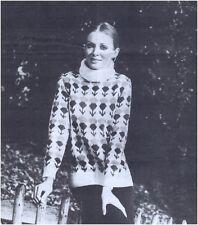 Ladies 'dk Cardo Fair-isla Sweater Vintage Tejer patrón