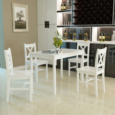 Modern Solid Wood Pine Dining Table Set and 4 -X Shape chairs set kitchen Room