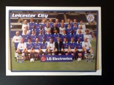 Merlin Football Sticker #250 2001-02 Leicester City Team Picture Mint Condition