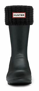 Hunter Waffle Boot Short Sock In Black For Size M L