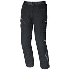 Pantaloni neri ventilati per motociclista ginocchio