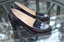 Michael Kors Bayville Loafer Pumps DEEP PLUM Patent Leather Size 6M Shiny