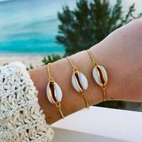Genuine  Conch Charm Chain Seashell Wrist Chain Cowrie Shell Bracelet Jewelry