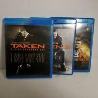 Bluray LOT Taken 1, 2, 3 Trilogy Liam Neeson Blu Ray OD1A51