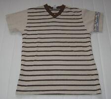 t shirt mariniere col V marron 12 ans absorba