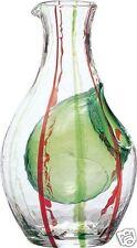 Japanese SAKE Saki Bottle Ice pocket Carafe Chilled Drinking Glass Reishu Green