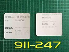 Porsche 911 930 Carrera SC 3.2 Size2 VIN Data Bonnet Maintenance Book Labels