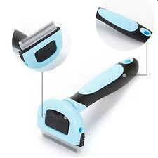 Pet Cat Dog Hair Deshedding Comb Grooming Brush Rakes Tool ABS Handle  Blue S