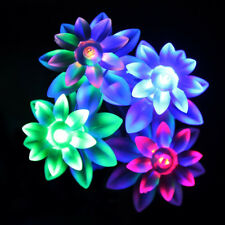 Solar Powered 17M 100LED Multi Colours String Fairy Lights Lotus Outdoor Garden