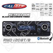 Caliber rmd120bt Bluetooth autoradio USB SD retro Design radio Oldtimer Black