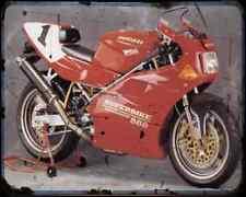 Ducati 888 Sp5 94 1 A4 Metal Sign Motorbike Vintage Aged