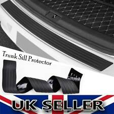 Rubber Car Rear Boot Trunk Bumper Protector Guard Trim Cover Chrome Sill Lip UK