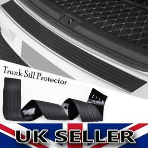 Car Rear Boot Trunk Bumper Protector Guard Trim Cover Rubber Sill Lip Black