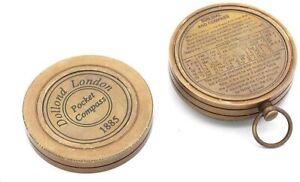 Antique Pocket Navigation Kelvin & Hughes Compass 100 Years Calendar Vintage
