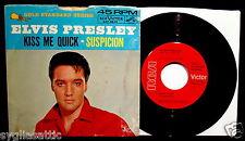 ELVIS PRESLEY-Suspicion+Kiss Me Quick-Picture Sleeve+45-RCA VICTOR #447-0639