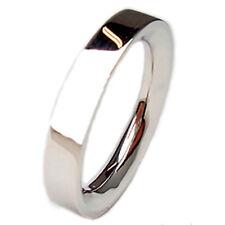 Bandas de boda oro blanco 18 ct anillos perfecto per 25° aniversario