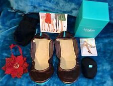 SOLD OUT Limited Edition Raspberry Truffle Tieks Ballet Flats Shoes Size 9 New