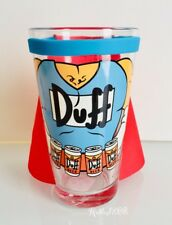 NEW Universal Studios x The Simpsons Duff Beer Man Pint Glass Cup with Cape