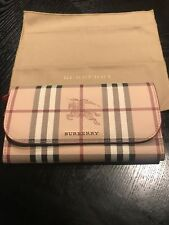 New Auth Burberry Women Haymarket Harris Wallet Snap Zip nova check plaid $550