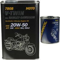 1L MANNOL V-Twin for Harley-Davidson API SM 20W-50 Motorspülung Motor Flush