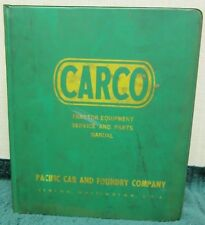 Carco Tractor Equipment Service & Parts Manual