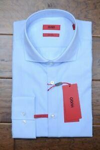 Hugo Boss Mens Jasona Slim Fit Easy Iron Cotton Shirt 43A 17A 32/33